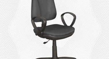 Кресло UA_EChair EC Pegaso GTP ткань JP1 черно-серая