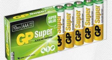 Батарея GP Super AAA/LR03/24A алкалин., 10 шт/уп. GP24A-B10