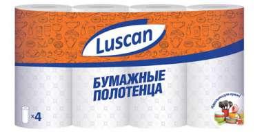 Полотенца бумажные LUSCAN 2-сл.,с тиснением, 4рул./уп.