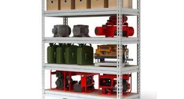 Метал.Мебель P_МС-Т 15515-2.5 стеллаж с 5-ю полками 1550х535х2500