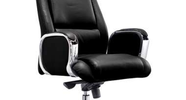 Кресло BN_Jl_Руководителя Echair-545 ML кожа черная, хром