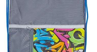 Мешок для обуви №1School Graffiti карман 340*420мм МО-22-1С