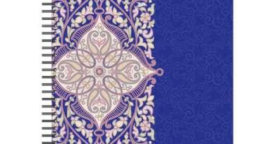Бизнес-тетрадь 80л,А4,Арабеска,300х210мм,70г/квм,белый,фиолетовый